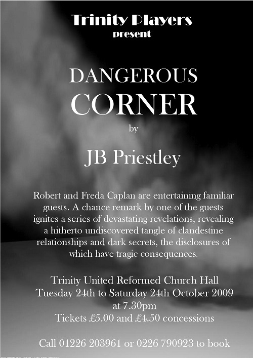 dangerous corner analysis Dangerous corner is priestley's first play and the first to introduce this idea that the clock can turn //wwwfacebookcom/pages/2nd-story-theatre/111414903520.